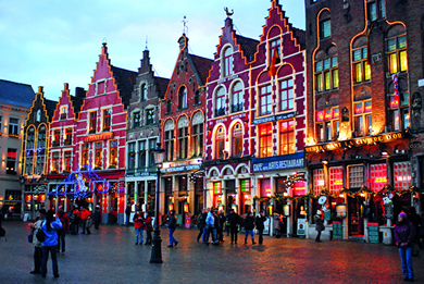 Holiday in Bruges, Belgium